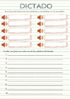 Interactive worksheet Dictado de palabras