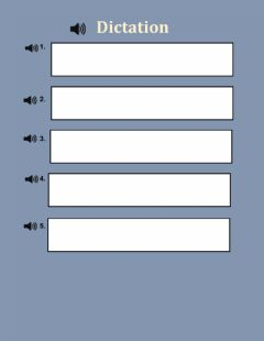 Interactive worksheet Dictation past tense verbs