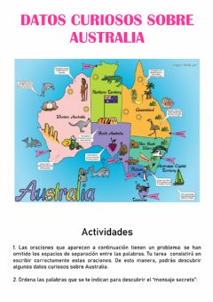 Interactive worksheet Datos curiosos de Australia