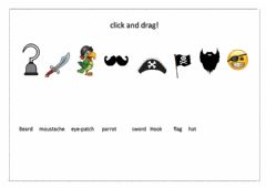 Interactive worksheet Pirate objects