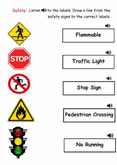 Ficha interactiva Safety Signs