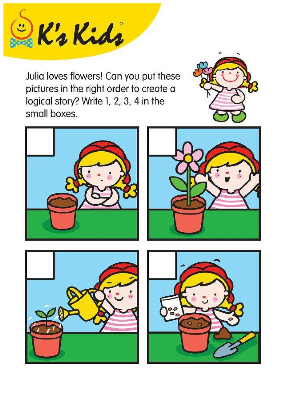 Picture Reading - Story Sequence - Interactive worksheet