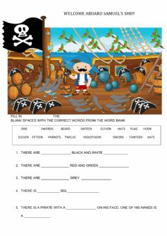 Interactive worksheet Samuel's ship