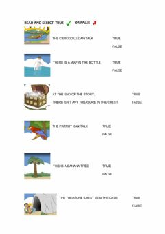 Interactive worksheet A pirate's story