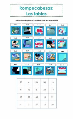 Interactive worksheet Tablas de multiplicar