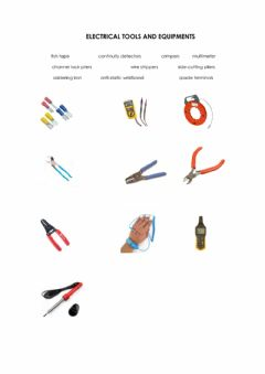 Interactive worksheet Electrical Tools and Equipment