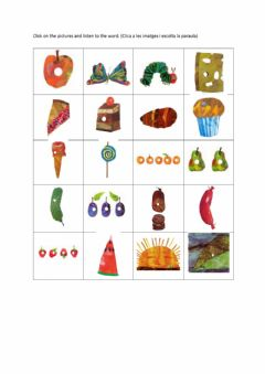 Interactive worksheet The very hungry caterpillar vocabulary