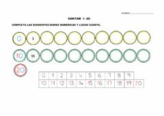 Interactive worksheet Serie numerica 1-20