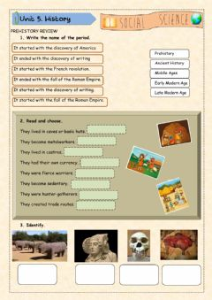 Interactive worksheet Prehistory in Spain