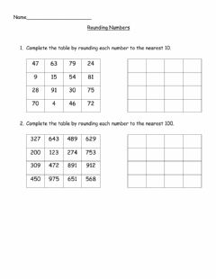 Interactive worksheet Rounding