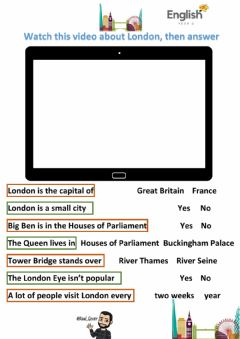 Interactive worksheet A trip to London
