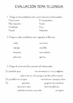 Interactive worksheet Lengua 13