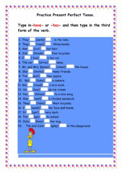 Interactive worksheet Practice Present Perfect