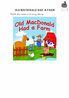 Interactive worksheet Old macdonald