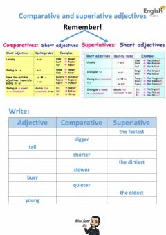 Ficha interactiva Short comparative and superlative adjectives