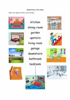 Interactive worksheet Rooms-Parts of the House