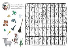 Ficha interactiva Wordsearch - the room on a broom