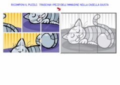 Interactive worksheet Puzzle del gatto