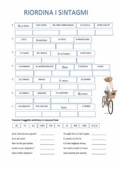 Interactive worksheet Sintagmi e soggetto
