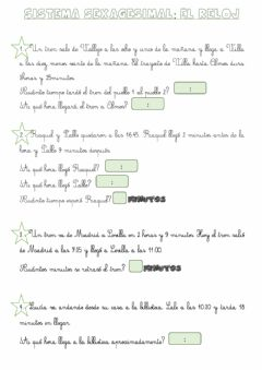 Interactive worksheet Problemas horas