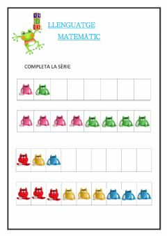 Interactive worksheet Completa la sèrie