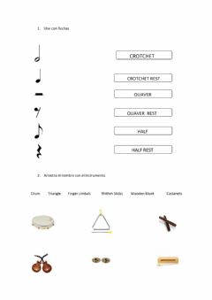 Ficha interactiva Sings and instruments