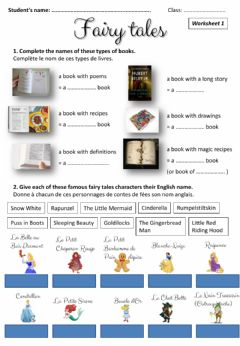 Interactive worksheet Fairy tales characters