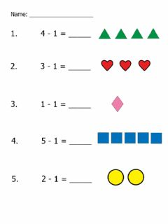 Interactive worksheet One Less