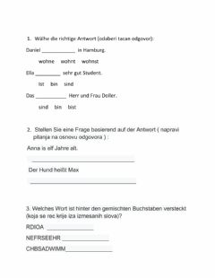 Interactive worksheet Übungen