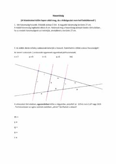 Interactive worksheet Hasonlóság 1