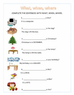 Interactive worksheet What, When, Where Take Shape 1