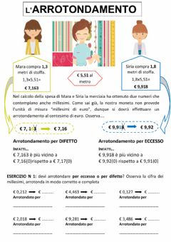 Interactive worksheet Calcolo arrotondato