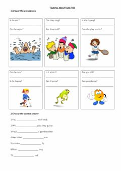 Interactive worksheet Expressing abilities