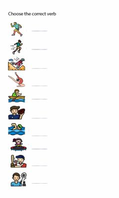 Interactive worksheet verbs and sports