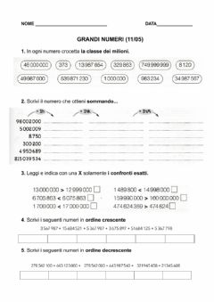 Interactive worksheet 11-05 GRANDI NUMERI