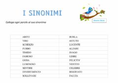 Interactive worksheet Sinonimi 2
