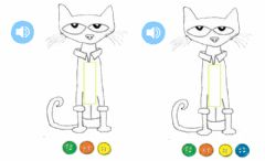 Interactive worksheet Pete the Cat and his four groovy buttons 2