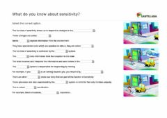 Interactive worksheet What do you know about sensitivity