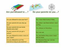 Interactive worksheet Are you allowed to...? Do your parents let you ...?