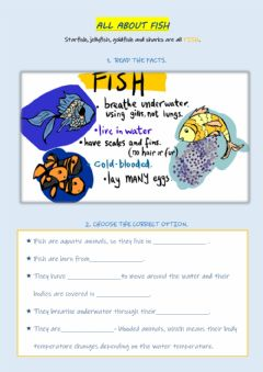 Interactive worksheet Fish Facts
