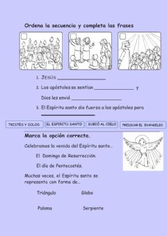 Interactive worksheet Espíritu santo