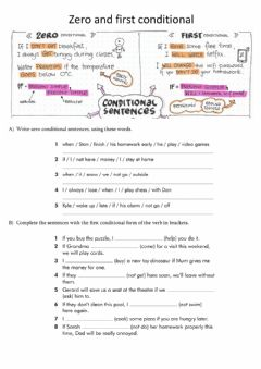 Interactive worksheet Zero and First Conditional