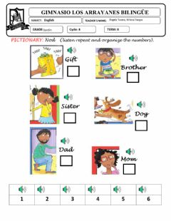 Interactive worksheet Pictionary Nod