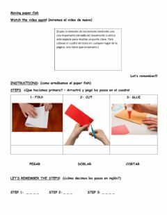 Interactive worksheet Moving paper fish - Instructions