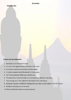 Interactive worksheet Borobudur