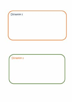 Interactive worksheet Dictations