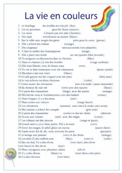 Interactive worksheet Adjectifs de couleur 3