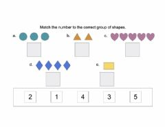 Interactive worksheet Match Number to Quantity