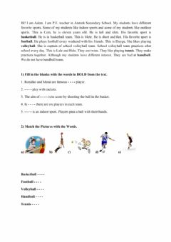 Interactive worksheet Sports 2