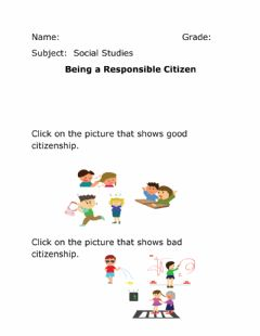 Interactive worksheet Being a Good citizen